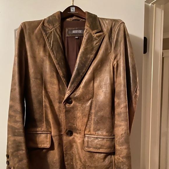 Kenneth Cole leather blazer.